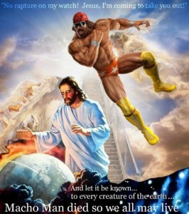 Randy Savage vs. Jesus Christ in the Rumble in the Rapture