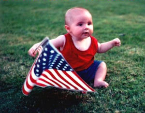 Baby Waving the Flag that Google Won't