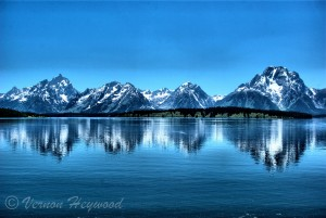 Vernon Heywood Photography - Grand Tetons reflecting on Jackson Lake, Grand Tetons National Park