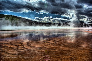 Vernon Heywood Photography - Grand Prismatic Spring, Yellowstone National Park.