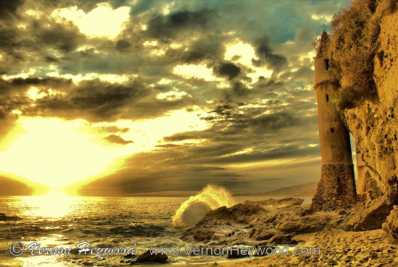 La Tour: The Pirate Tower during a stormy sunset