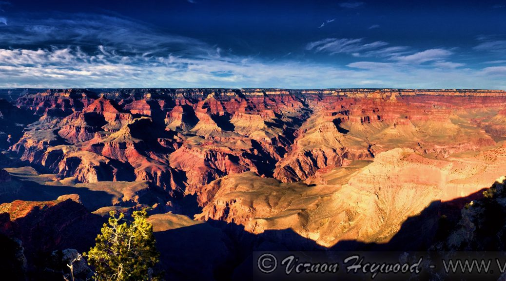 Grand Canyon afternoon panoramic